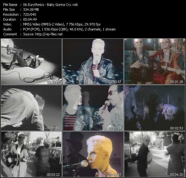 download Eurythmics « (My My) Baby's Gonna Cry » video vob