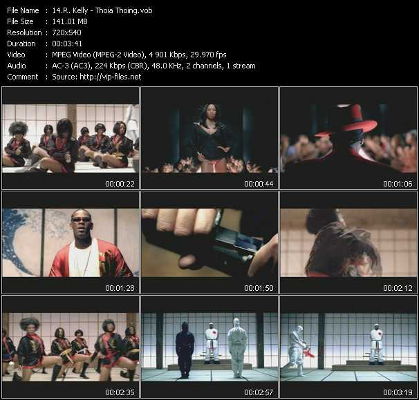 download R. Kelly « Thoia Thoing » video vob