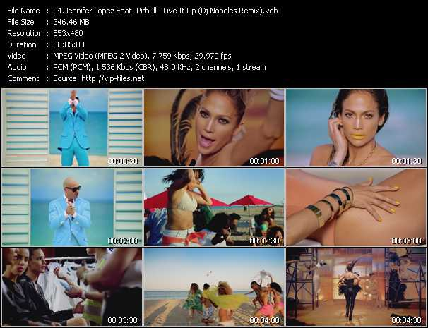 download Jennifer Lopez Feat. Pitbull « Live It Up (Dj Noodles Remix) » video vob