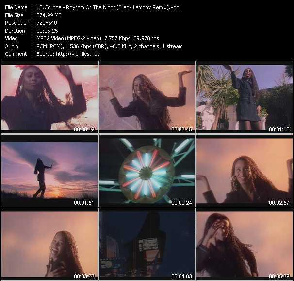 download Corona « Rhythm Of The Night (Frank Lamboy Remix) » video vob