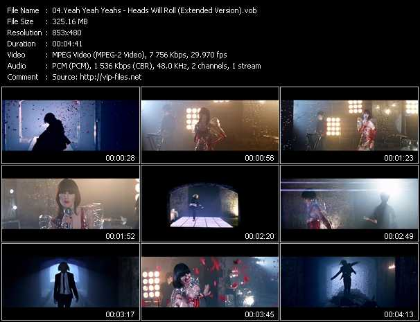 video Heads Will Roll (Extended Version) screen