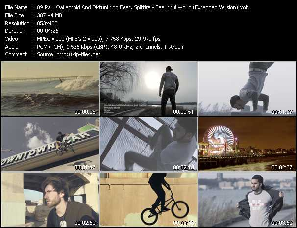 download Paul Oakenfold And Disfunktion Feat. Spitfire « Beautiful World (Extended Version) » video vob