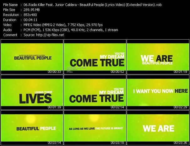 video Beautiful People (Lyrics Video) (Extended Version) screen
