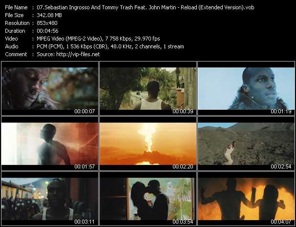 download Sebastian Ingrosso And Tommy Trash Feat. John Martin « Reload (Extended Version) » video vob
