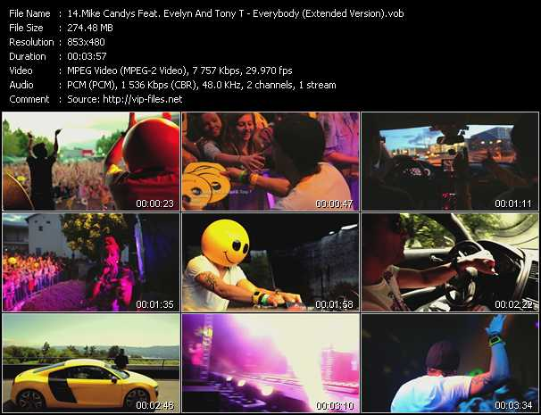 download Mike Candys Feat. Evelyn And Tony T « Everybody (Extended Version) » video vob