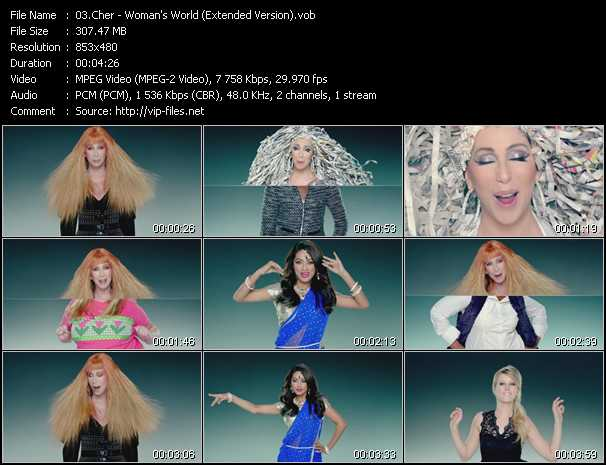 download Cher « Woman's World (Extended Version) » video vob