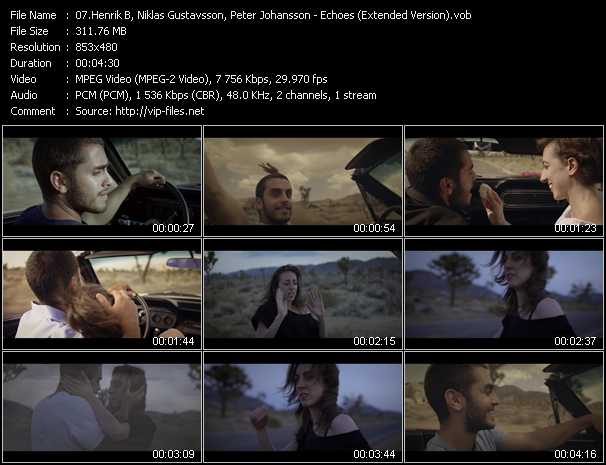 download Henrik B, Niklas Gustavsson, Peter Johansson « Echoes (Extended Version) » video vob