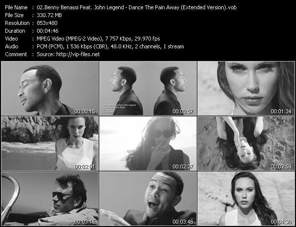 download Benny Benassi Feat. John Legend « Dance The Pain Away (Extended Version) » video vob