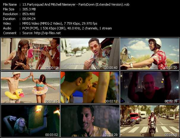 download Partysquad And Mitchell Niemeyer « PantsDown (Extended Version) » video vob