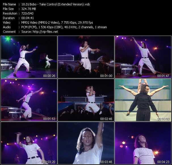 download Dj Bobo « Take Control (Extended Version) » video vob