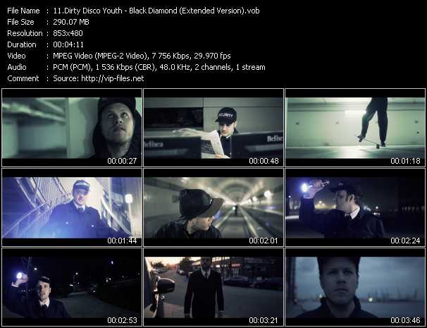 download Dirty Disco Youth « Black Diamond (Extended Version) » video vob