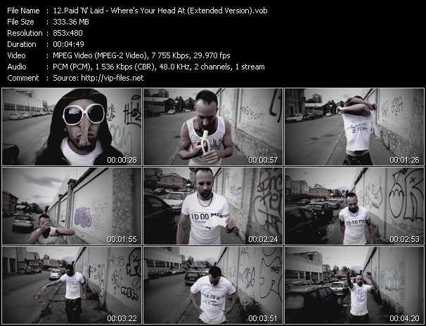 download Paid 'N' Laid « Where's Your Head At (Extended Version) » video vob