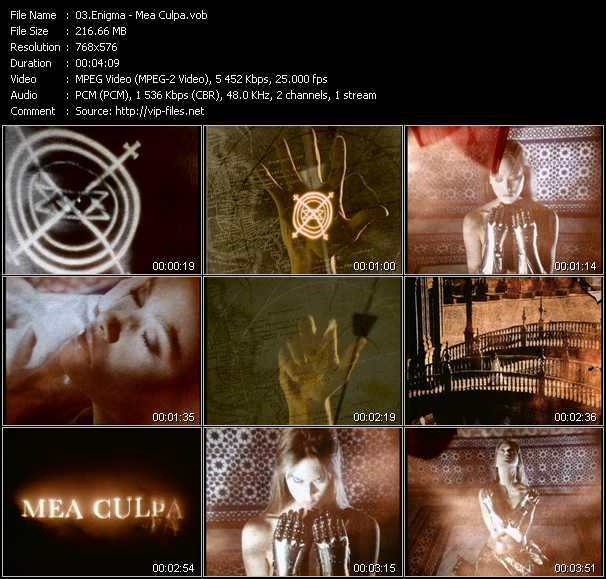 download Enigma « Mea Culpa » video vob