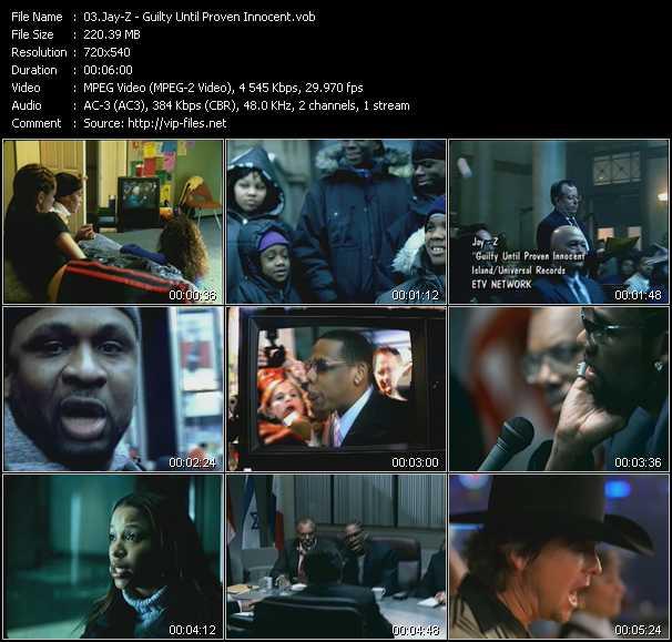 download Jay-Z « Guilty Until Proven Innocent » video vob