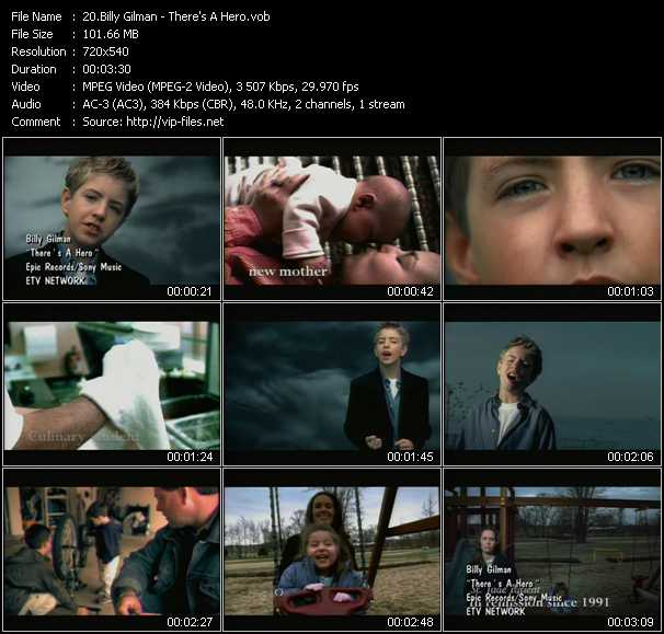 download Billy Gilman « There's A Hero » video vob