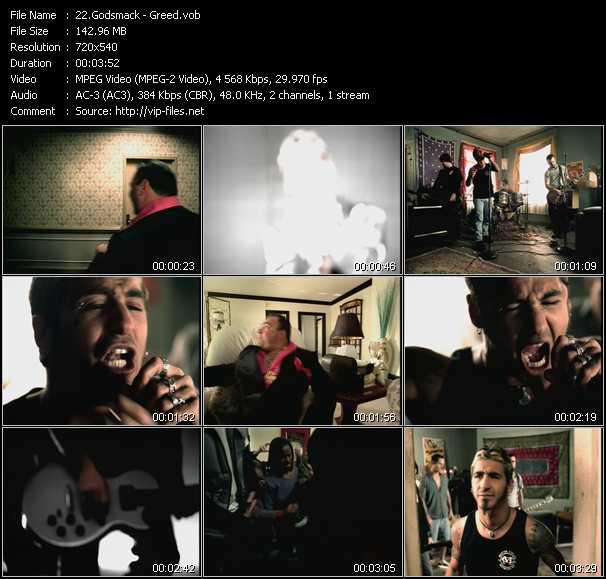 download Godsmack « Greed » video vob