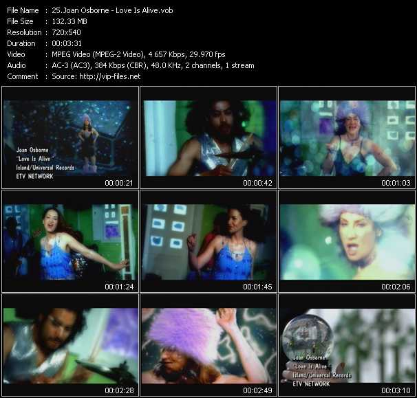 download Joan Osborne « Love Is Alive » video vob