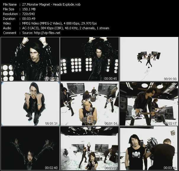 download Monster Magnet « Heads Explode » video vob