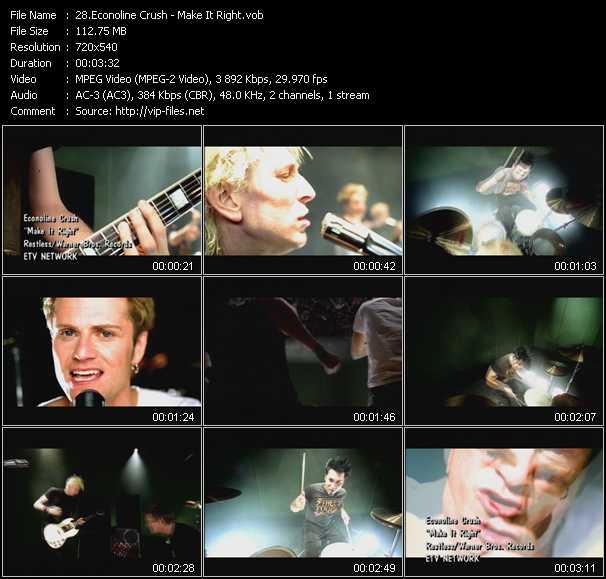 download Econoline Crush « Make It Right » video vob