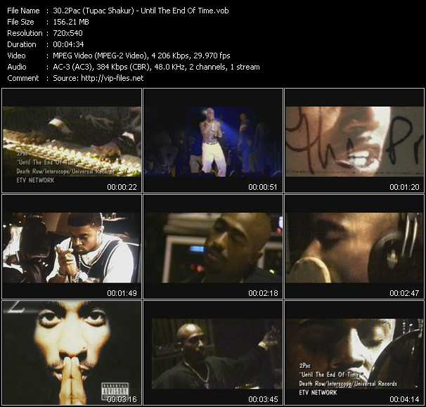 download 2Pac (Tupac Shakur) « Until The End Of Time » video vob