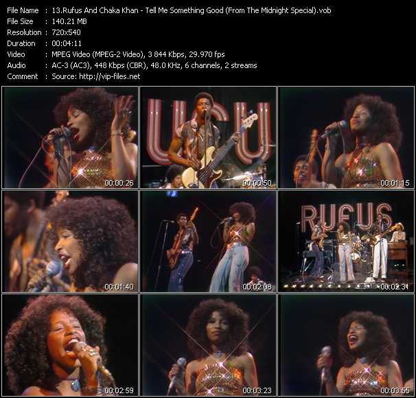 download Rufus And Chaka Khan « Tell Me Something Good (From The Midnight Special) » video vob
