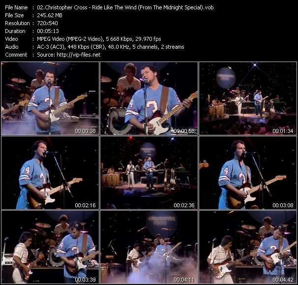 download Christopher Cross « Ride Like The Wind (From The Midnight Special) » video vob