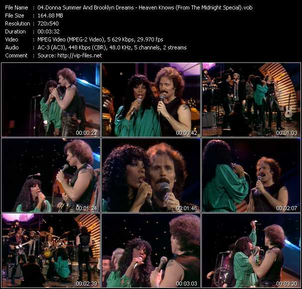 download Donna Summer And Brooklyn Dreams « Heaven Knows (From The Midnight Special) » video vob