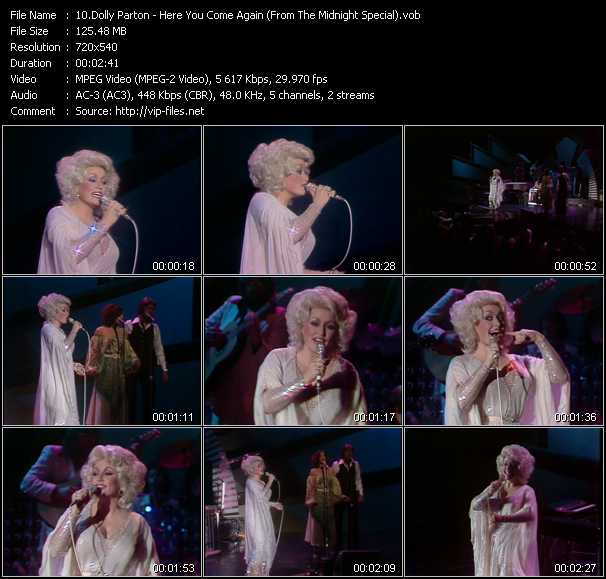 download Dolly Parton « Here You Come Again (From The Midnight Special) » video vob