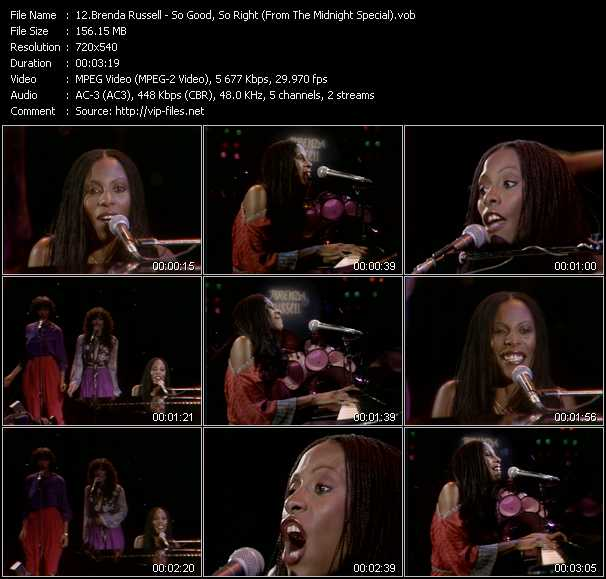 download Brenda Russell « So Good, So Right (From The Midnight Special) » video vob