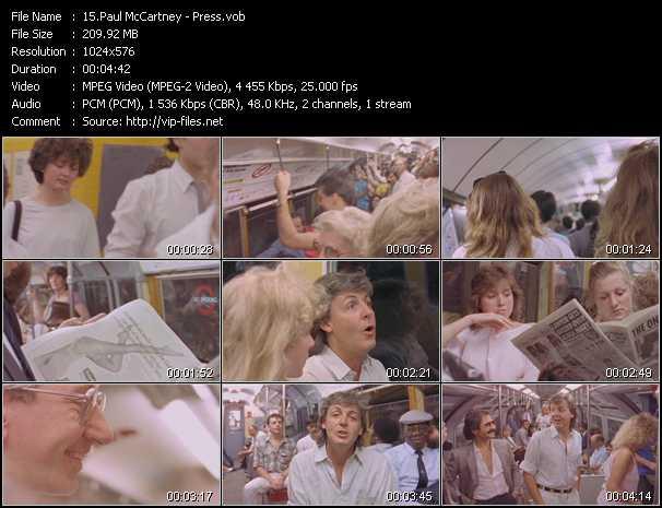 download Paul McCartney « Press » video vob