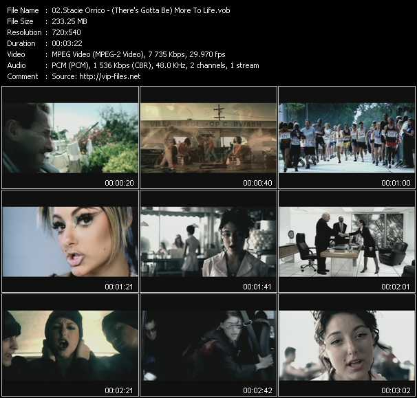 download Stacie Orrico « (There's Gotta Be) More To Life » video vob