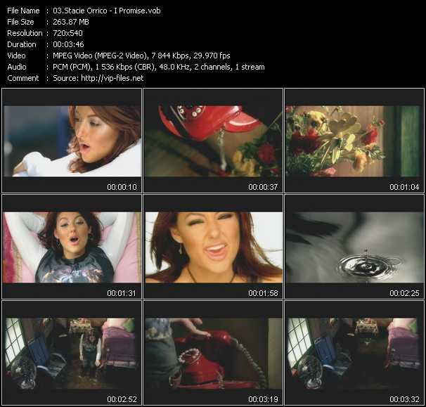 download Stacie Orrico « I Promise » video vob