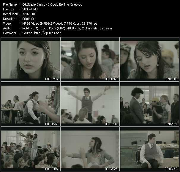 download Stacie Orrico « I Could Be The One » video vob