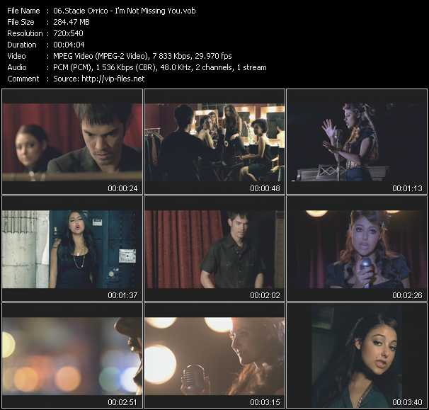 download Stacie Orrico « I'm Not Missing You » video vob