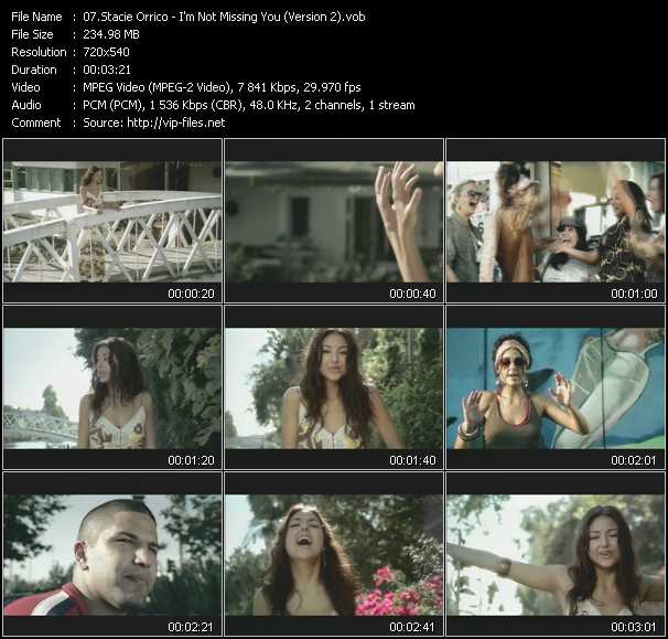 download Stacie Orrico « I'm Not Missing You (Version 2) » video vob
