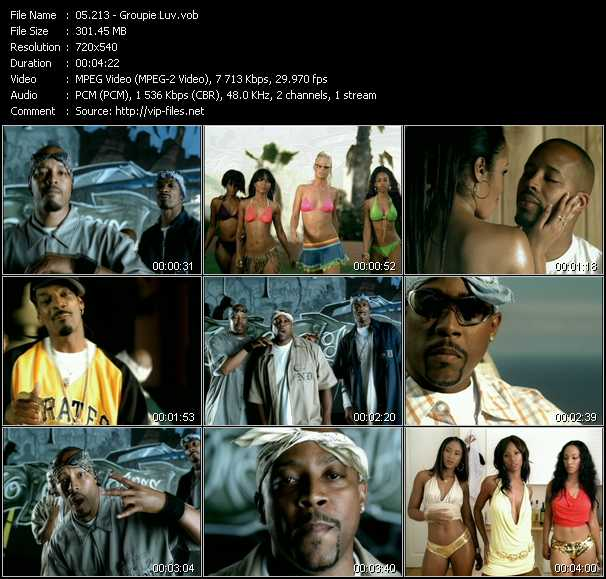 download 213 (Snoop Dogg, Warren G And Nate Dogg) « Groupie Luv » video vob