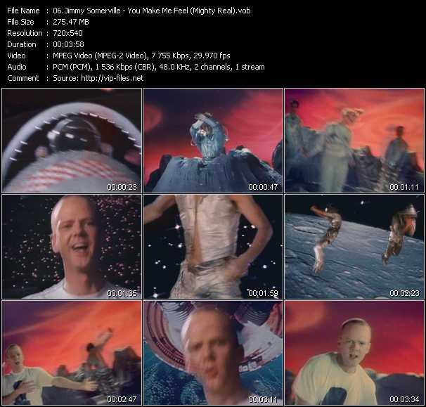 download Jimmy Somerville « You Make Me Feel (Mighty Real) » video vob