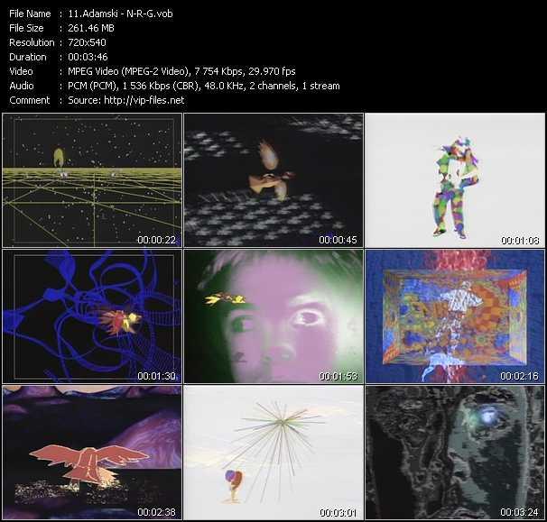 video N-R-G screen