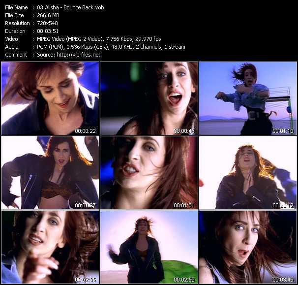 download Alisha « Bounce Back » video vob