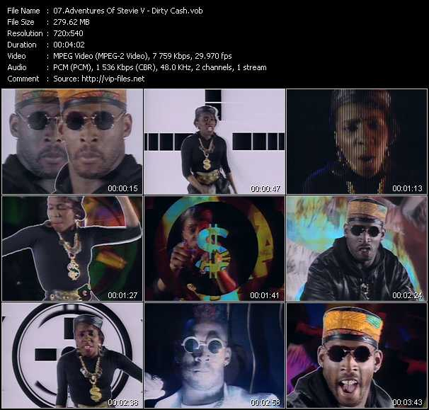 download Adventures Of Stevie V « Dirty Cash » video vob