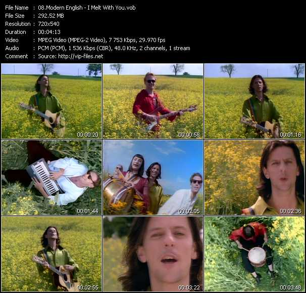 download Modern English « I Melt With You » video vob