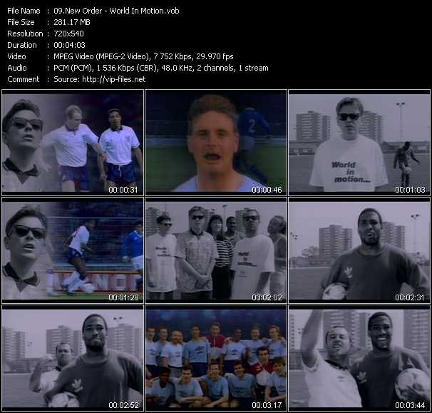 download New Order « World In Motion » video vob