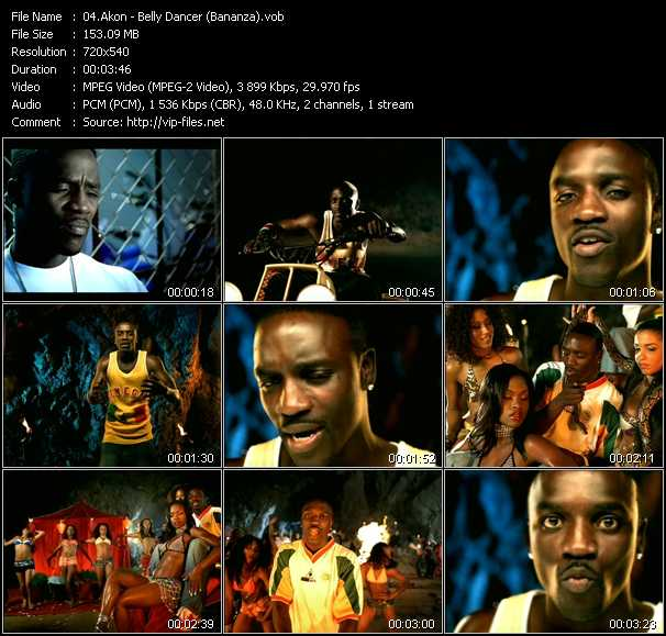 download Akon « Belly Dancer (Bananza) » video vob
