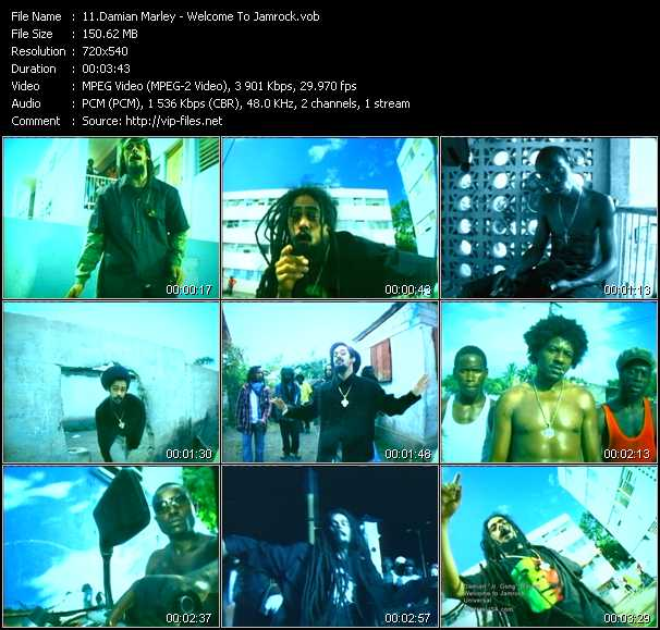 download Damian Marley « Welcome To Jamrock » video vob