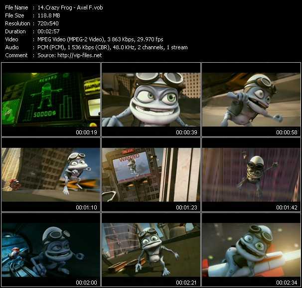 download Crazy Frog « Axel F » video vob