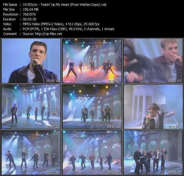N sync tearing up my heart 1998