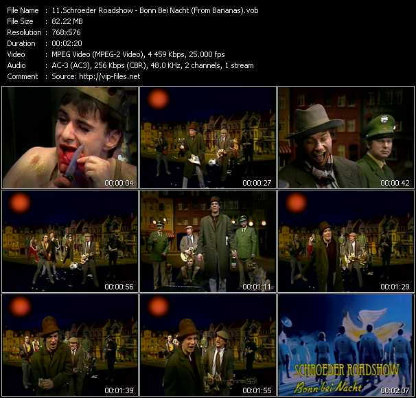 download Schroeder Roadshow « Bonn Bei Nacht (From Bananas) » video vob