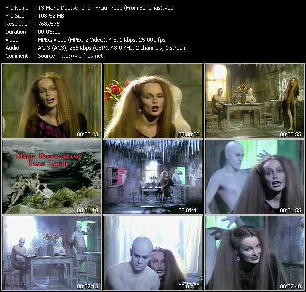 video Frau Trude (From Bananas) screen