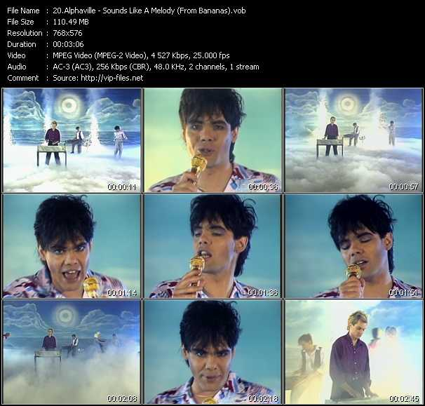 download Alphaville « Sounds Like A Melody (From Bananas) » video vob