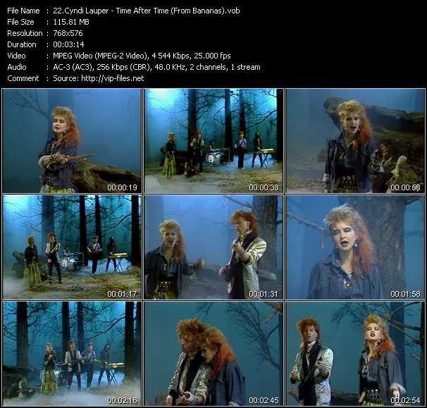 download Cyndi Lauper « Time After Time (From Bananas) » video vob